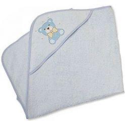 Cape de bain pour bébé : Ours Bleu