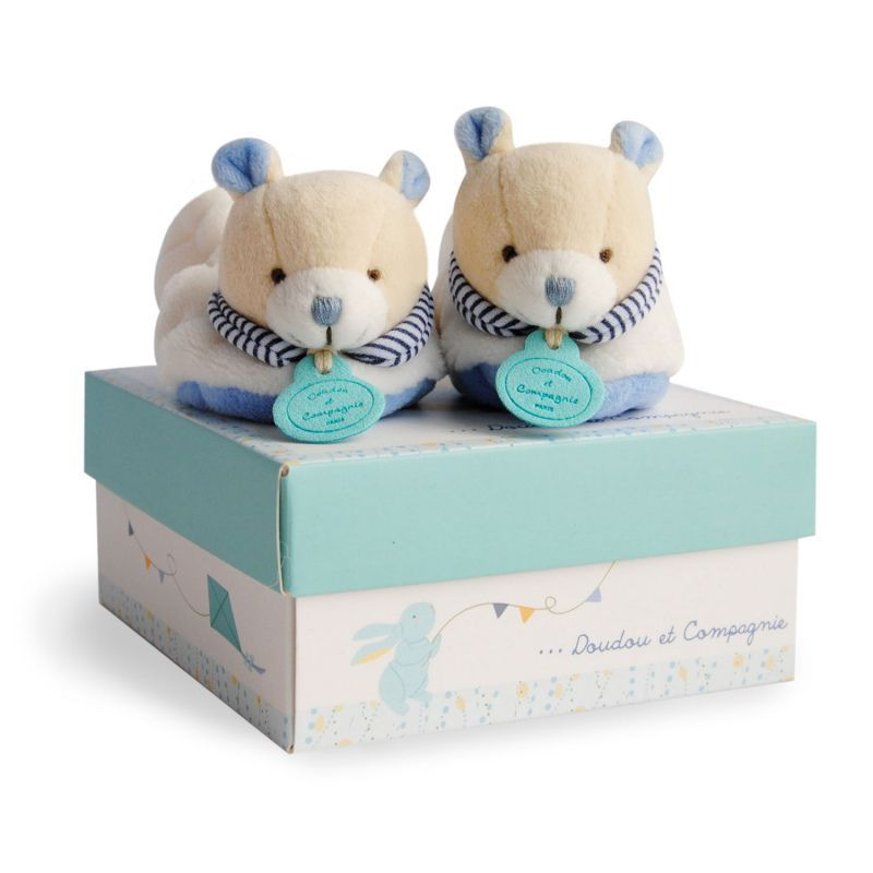 Chaussons hochet naissance Ours