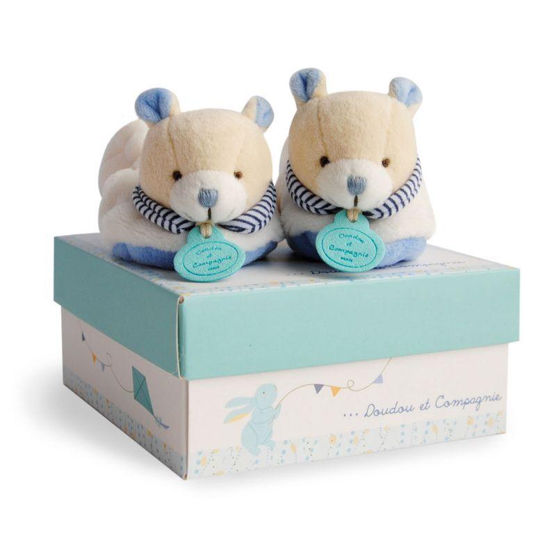 ff2c3a8207af4 Chaussons naissance ours pour un bébé de 0 à 6 mois.