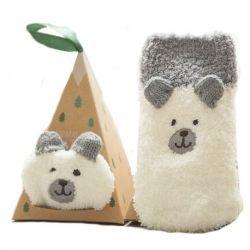 Boite chaussettes bébé : Ours