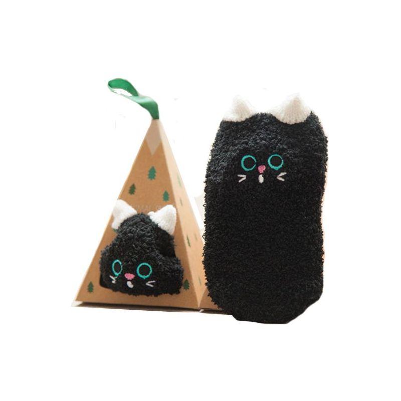 Boite kdo chaussettes bébé : Chat