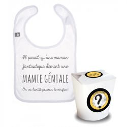 Pochette surprise : annonce naissance Mamie Géniale