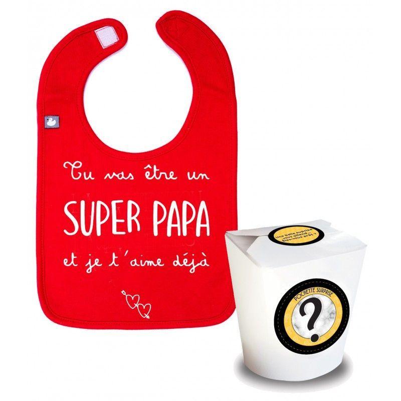 Pochette surprise : Bavoir Super Papa