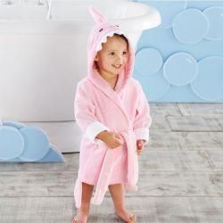 Sortie de bain REQUIN ROSE pour enfant de 1 à 3 ans