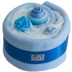 Gâteau de couches et couverture : Bébé Garçon