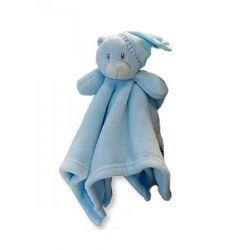 Doudou Teddy Bleu