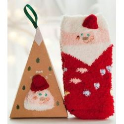 Boite chaussettes enfant : Père Noël