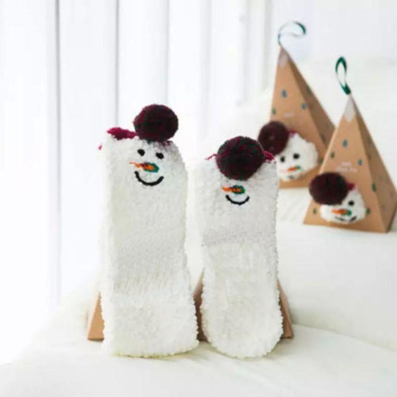 Boite chaussettes enfant : Bonhomme de Neige