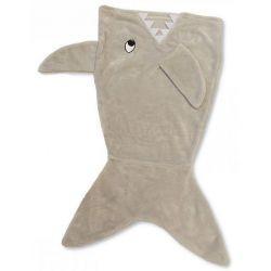 """Couverture """"sac de couchage"""" bébé : queue de requin"""