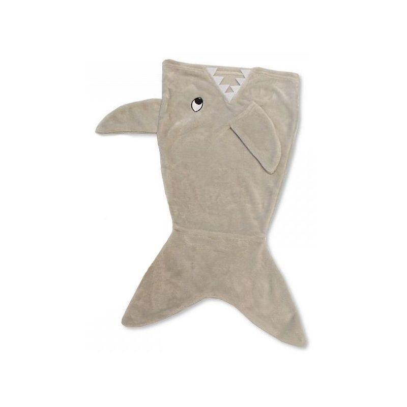 Couverture/enveloppe bébé avec queue de requin