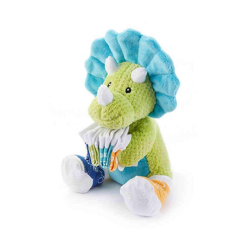 peluche dinosaure Tricerasocks pour bébé