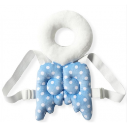 Protège tête de bébé : Ange bleu