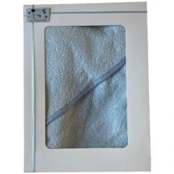 Cape de bain bébé : Bleu