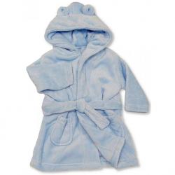 Peignoir pour bébé ultra doux : bleu