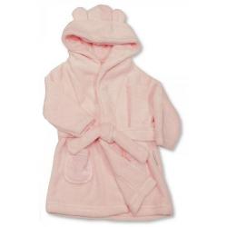 Peignoir pour bébé ultra doux : rose