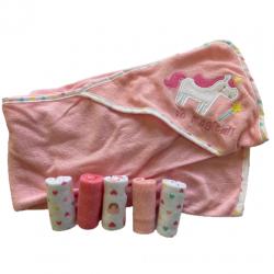 Coffret naissance pour la toilette de bébé : rose