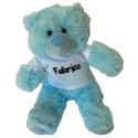 Peluche personnalisée au prénom de bébé : ours bleu