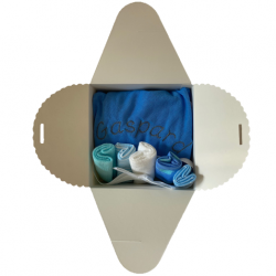 Coffret naissance pour la toilette de bébé personnalisé : bleu
