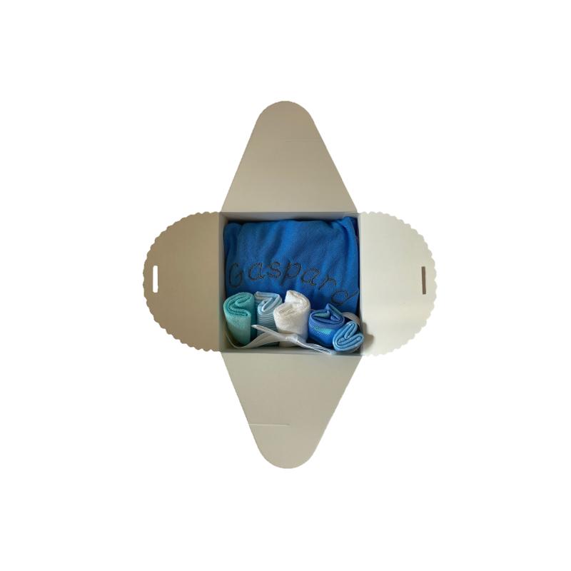 Coffret naissance pour la toilette de bébé bleu