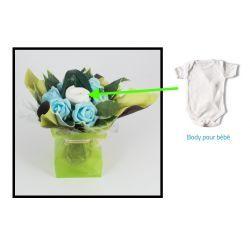 bouquet body naissance original garcon