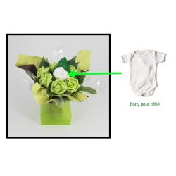 bouquet body naissance original vert