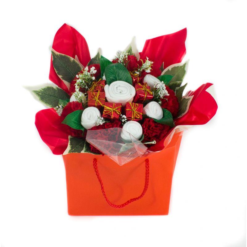 Bouquet de layette naissance original noël