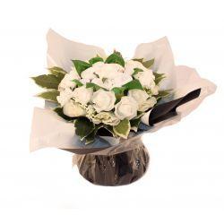 Bouquet de naissance garcon et fille : Symphonie Blanc cadeau naissance