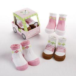 Voiturette chaussettes fille pour un cadeau insolite
