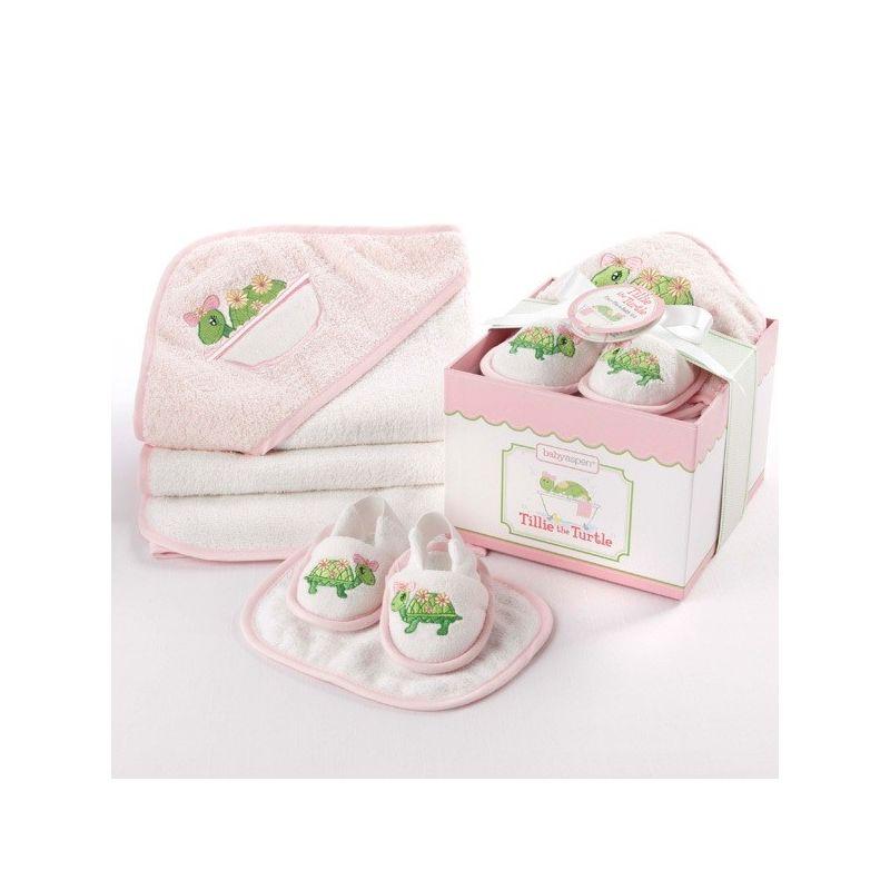 ensemble de bain pour b b coffret cadeau naissance fille. Black Bedroom Furniture Sets. Home Design Ideas