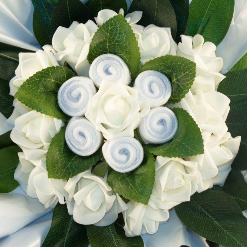 cadeau baptème Bouquet de naissance avec chaussettes