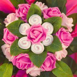Bouquet chaussettes bébé fille rose