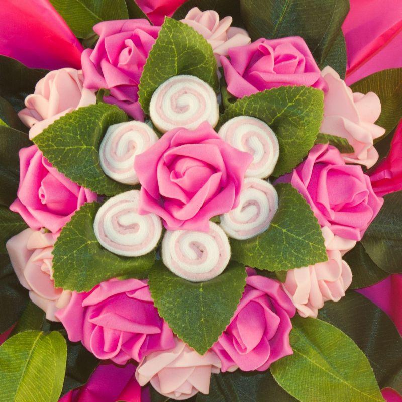 cadeau naissance Bouquet chaussettes bébé fille rose
