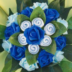 Bouquet de chaussettes bébé : Bleu