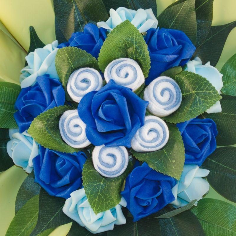cadeau bébé Bouquet chaussettes bébé garçon bleu