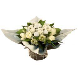 Bouquet de 7 layettes : Harmonie Blanc