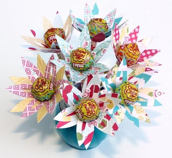 Fleurs sucettesle blog de fripoune le blog de fripoune - Comment faire un bouquet de fleurs ...