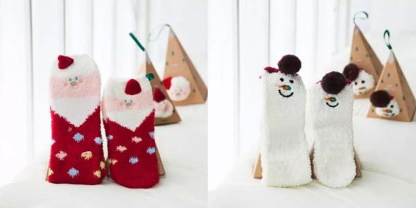 Les jolies boites de chaussettes de Noël