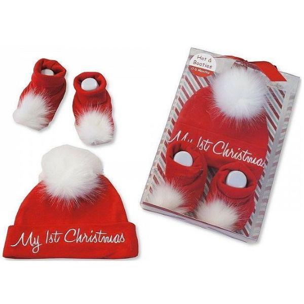 Ensemble chaussons et bonnet de Noël pour nourrisson