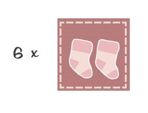 bouquet de chaussettes fille