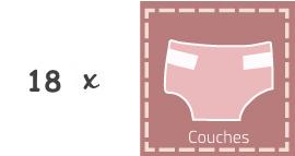 gateau de couches rose